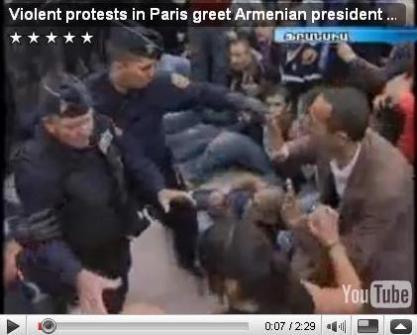 ՀՀ նախագահի համահայկական շրջագայությունը սկսվել է ցուցարարների հետ բախումով