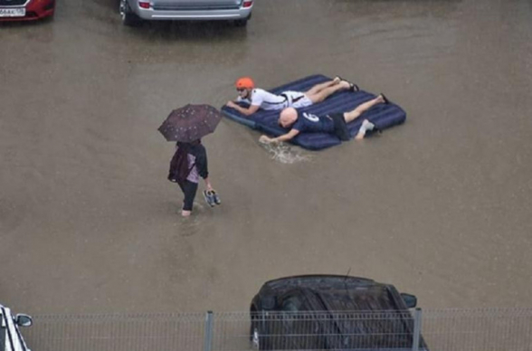 Краснодар затопило после дождя