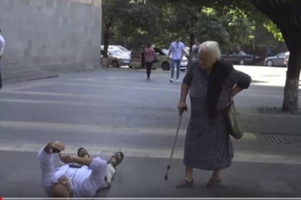 «Արա՛, դե վե՛ր կաց, էլի, ամոթ ա». ՀՀԿ տատին՝ Գասպարիին