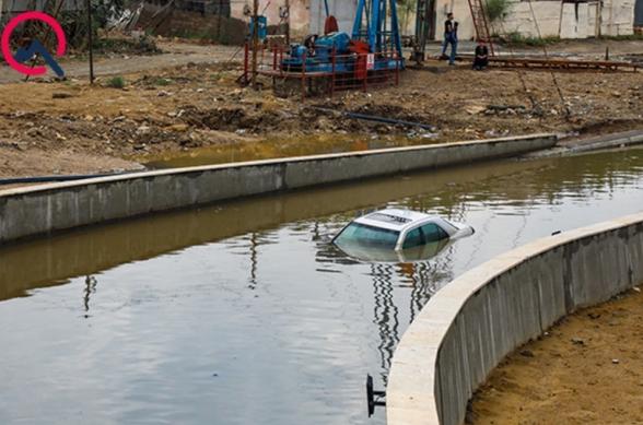 Ադրբեջանում թունելը հեղեղվել է․ ավտոմեքենաները ջրի տակ են անցել