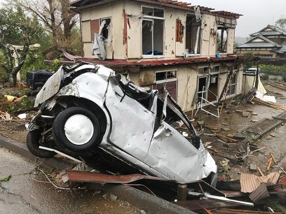 Ճապոնիայի թայֆունի ավերիչ հետևանքների կադրերը