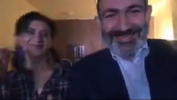 Анна Акопян танцевала, а Никол Пашинян – снимал на камеру