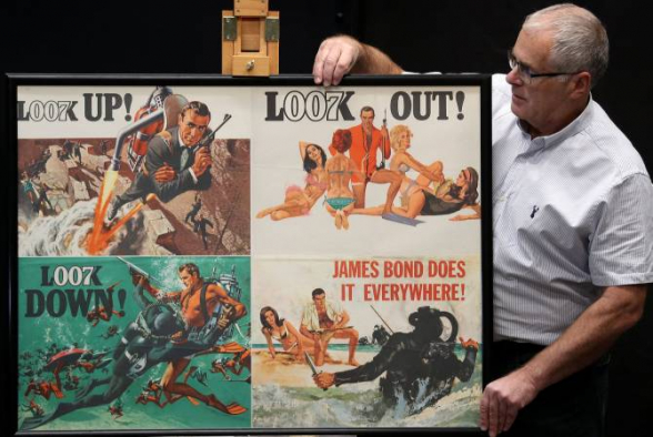 Բոնդի մասին ֆիլմերի պլակատների խոշորագույն հավաքածուն վաճառել են 264 հազար դոլարով