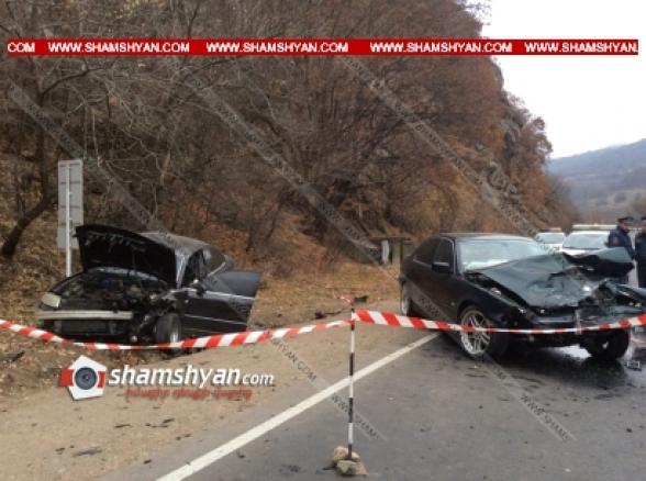 «Գետափ» ռեստորանի մոտ ճակատ-ճակատի բախվել են BMW-ն ու Volkswagen Passat-ը. կա 4 վիրավոր