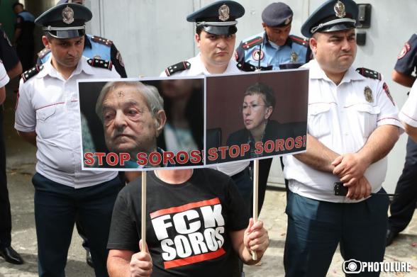 Բողոքի ցույց՝ «Ազատություն Նիկոլ Փաշինյանին Սորոսից» (տեսանյութ)