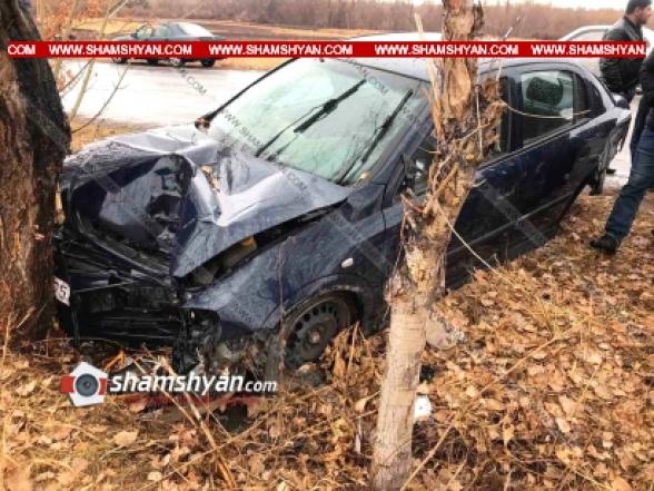 Գեղարքունիքի մարզում բախվել են BMW-ն ու Opel-ը. վերջինս էլ բախվել է ծառին. կա 4 վիրավոր