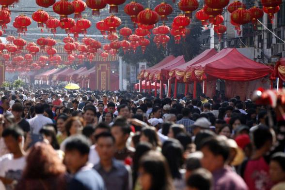 Население Китая превысило 1,4 миллиарда человек