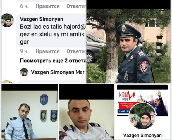 Հաջորդը դու ես. Հրայր Թովմասյանին սպառնացող քաղաքացին այս պահին Ոստիկանության համակարգի աշխատող է