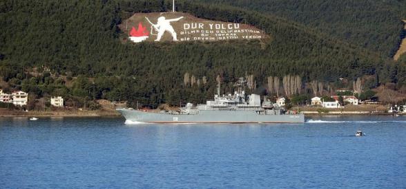 Ռուսական դեսանտային ռազմանավը Դարդանելի նեղուցով մուտք է գործել Միջերկրական ծով