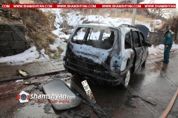 Երևանում Opel-ը դուրս է եկել հանդիպակաց և բախվել էլեկտրասյանը. հարվածից հրդեհ է առաջացել. կա վիրավոր (տեսանյութ)