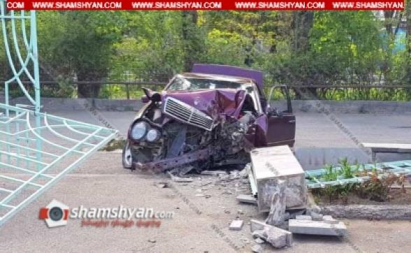 Լոռու մարզում 28-ամյա վարորդը Mercedes-ով բախվել է շինության պատին. կա վիրավոր