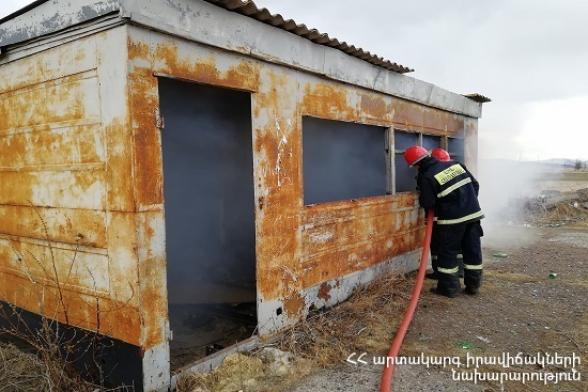 Խարբերդի ամառանոցներում ամբողջությամբ այրվել է վագոն-տնակ