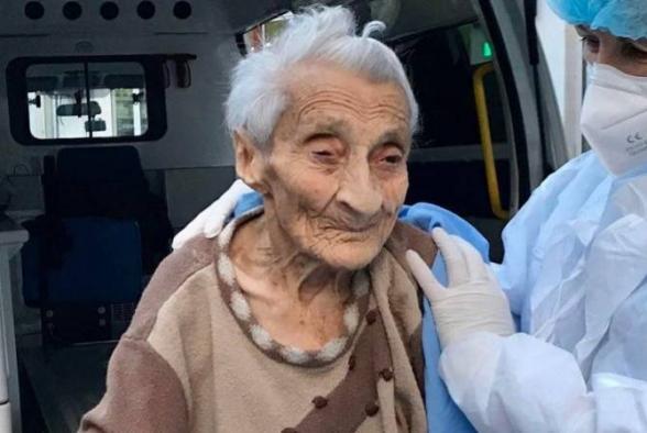 Նորքի տուն-ինտերնատի շահառու 101-ամյա Նազանի Սիմոնյանը հաղթահարել է COVID- 19-ը և դուրս գրվել ԲԿ-ից