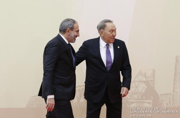 Никол Пашинян направил поздравительное послание Нурсултану Назарбаеву