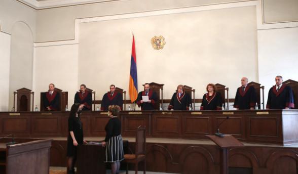 ՍԴ դատավորներ Ալվինա Գյուլումյանի, Ֆելիքս Թոխյանը, Հրանտ Նազարյանի և ՍԴ նախագահ Հրայր Թովմասյանի գանգատը ՄԻԵԴ-ում ստացվել է. պարզաբանումներ են պահանջել կառավարությունից