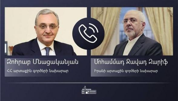 Զոհրաբ Մնացականյանը հեռախոսազրույց է ունեցել Իրանի ԱԳ նախարարի հետ