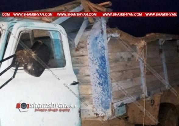 Գեղարքունիքի մարզում ГАЗ-53-ը սարամիջյան ճանապարհին մի քանի պտույտ գլորվել է․ կա 1 զոհ, 1 վիրավոր