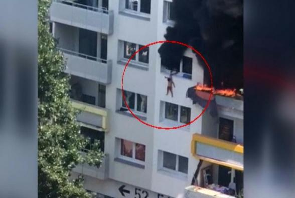 Ֆրանսիայում փողոցում գտնվող մարդիկ բռնել են հրդեհվող բնակարանից ցած նետված երկու երեխայի