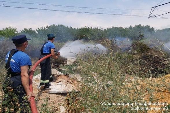 Հրշեջ-փրկարարները մարել են 8․8 հա տարածքում բռնկված հրդեհները