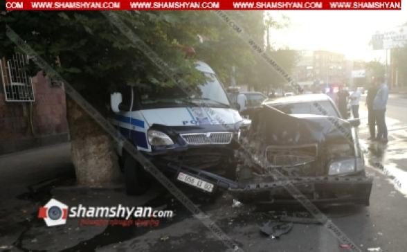 Երևանում 24-ամյա վարորդը՝ Mercedes-ով ոստիկանության Շենգավիթի բաժնի դիմաց ոստիկանական ավտոմեքենաների ջարդի հեղինակ