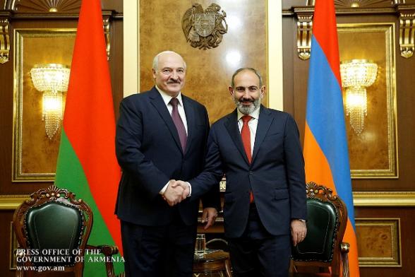Никол Пашинян поздравил Александра Лукашенко по случаю переизбрания на пост президента Беларуси