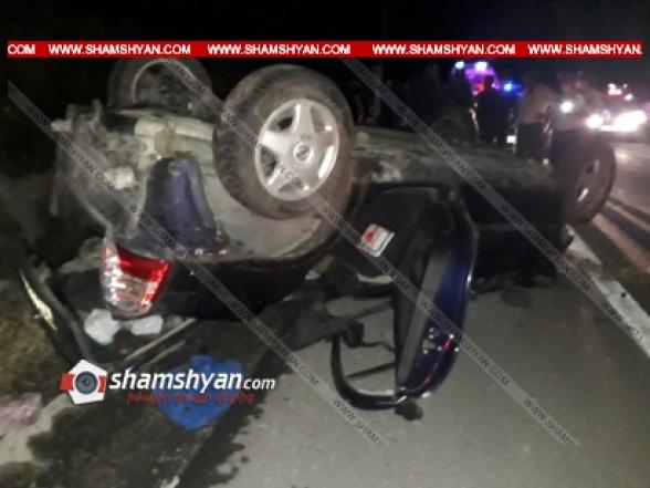 Գեղարքունիքի մարզում 30-ամյա վարորդը Opel-ով գլխիվայր շրջվել է, կան վիրավորներ. ավտոմեքենան վերածվել է մետաղե ջարդոնի