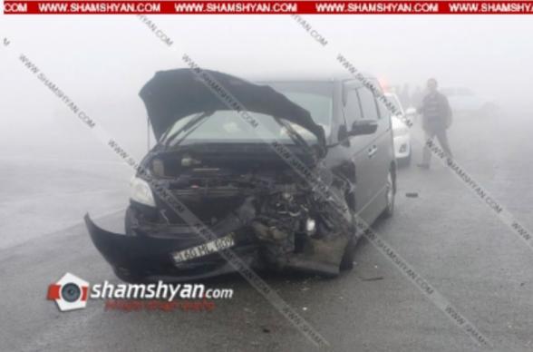 Ավտովթար Սյունիքի մարզում. բախվել են Honda Elison-ն ու Opel Astra-ն. 5 վիրավորներից 2-ը երեխաներ են