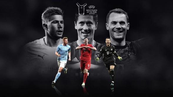 Де Брюйне, Левандовски и Нойер поборются за звание лучшего игрока сезона по версии УЕФА