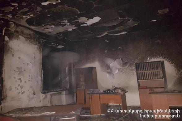 Նալբանդյան գյուղի դպրոցում բռնկված հրդեհը մարվել է