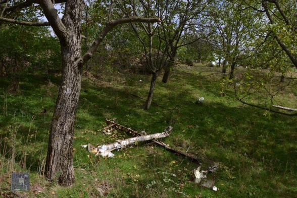 Հակառակորդի խոցված ԱԹՍ-ն Սպիտակաշեն գյուղում (լուսանկար)