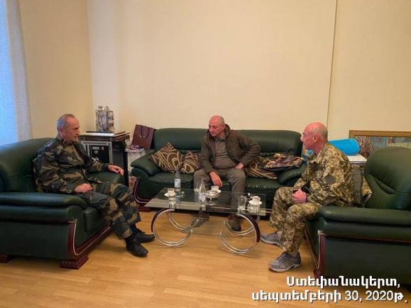 Երեք նախագահներն Արցախում (լուսանկար)