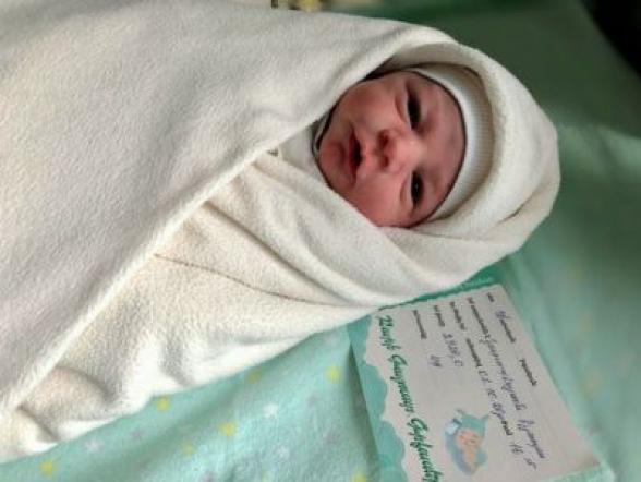 Քիչ առաջ լույս աշխարհ եկավ Արցախից Երևան եկած փոքրիկ Արթուրը