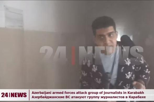 Հրապարակվել են կադրեր Մարտունիում ադրբեջանական կրակից 24News-ի լրագրողի վիրավորման պահից
