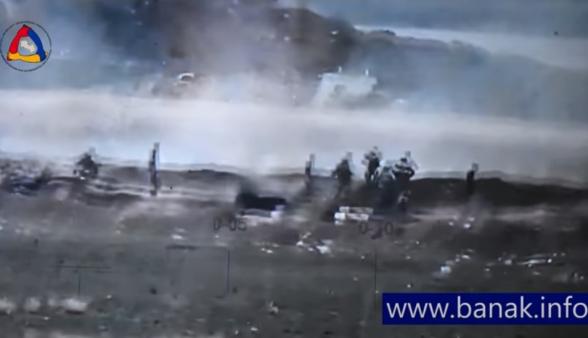 Ադրբեջանցիները փախչում են իրենց դիրքերից հայկական կողմի պատասխան կրակի արդյունքում և ոչնչացվում