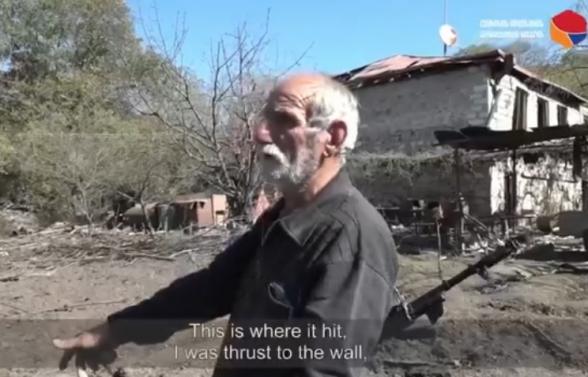 Ադրբեջանական ագրեսիայի հետևանքով Շոշ գյուղի բնակիչ Յուրա Մելքումյանը կորցրել է իր տունը