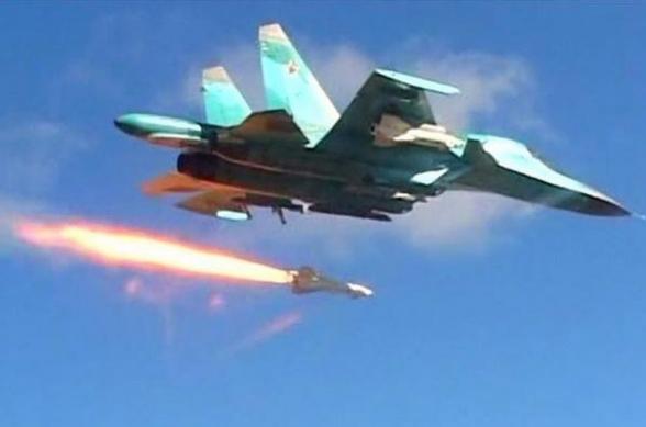 Ռուսական ռազմական ինքնաթիռները Սիրիայի կենտրոնական մասում պայթեցրել են ԻՊ-ի թաքստոցները