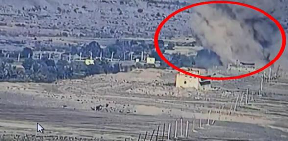 Հայ հրետանավորները դիպուկ կրակով խոցում են ադրբեջանական կողմի «Սմերչը»