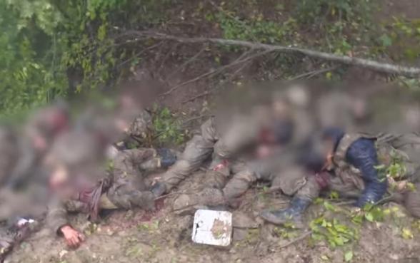 Тысячи тел азербайджанских военнослужащих уже гниют на разных участках линии передовой (видео)