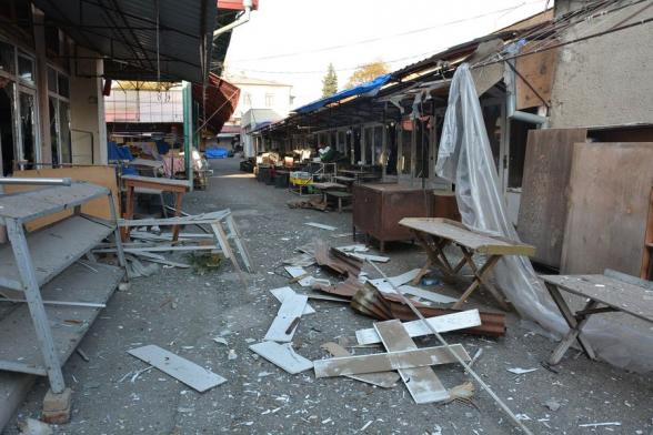 Видео из обстрелянного сегодня утром Степанакерта