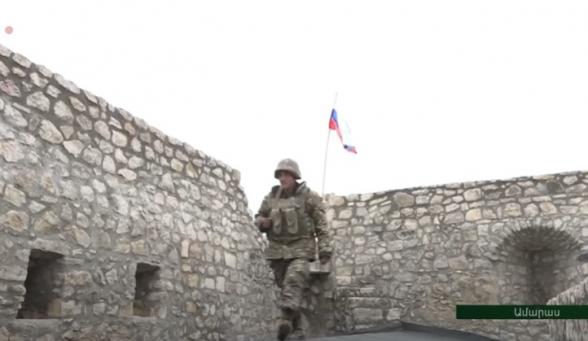 Монастырский комплекс Амарас контролируется войсками АО: на стенах флаг РФ