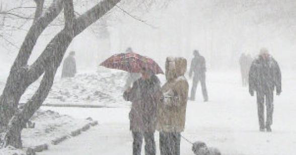 ՀՀ ողջ տարածքում սպասվում է ձյուն, առանձին վայրերում՝ ինտենսիվ, լեռնային շրջաններում՝ նաև բուք, ճանապարհներին՝ մերկասառույց․ ջերմաստիճանն աստիճանաբար կնվազի 17-20 աստիճանով