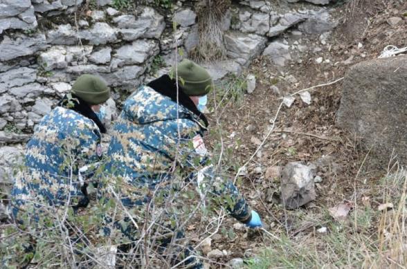 В Арцахе обнаружены останки 1 военнослужащего и 3 гражданских лиц
