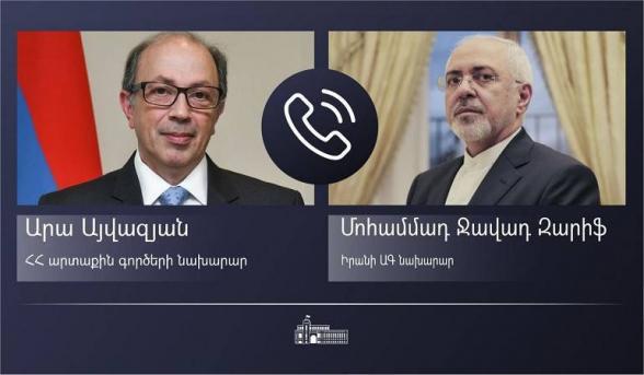 Главы МИД Армении и Ирана обсудили вопросы региональной безопасности и стабильности