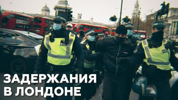 На протестной акции в Лондоне произошли массовые столкновения и задержания