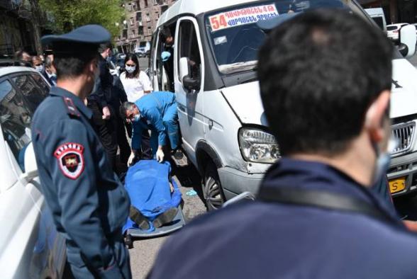 В одной из маршруток в Ереване убит человек
