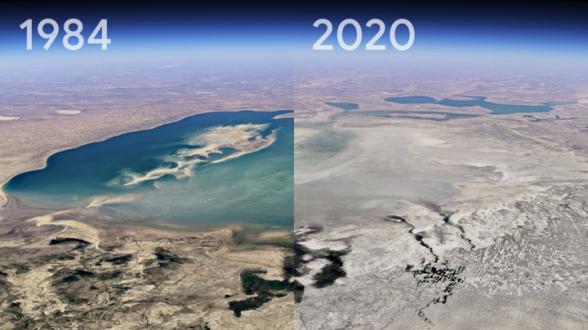 В Google Earth показали произошедшее с планетой за 37 лет