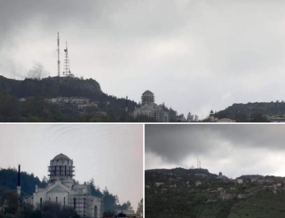Մայիսի 9 -ին ընդառաջ` թուրքը հանեց Ղազանչեցոց Ամենափրկիչ եկեղեցու գմբեթները (լուսանկար)