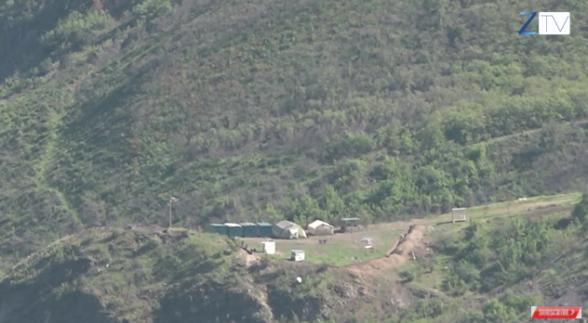 Над капанским селом Дицмайр Азербайджан строит дорогу (видео)