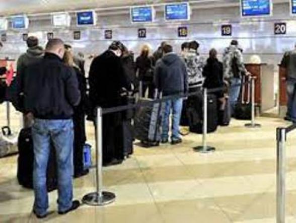 Число покинувших Армению воздушным путем за 4 месяца граждан на 76677 больше, чем прибывших