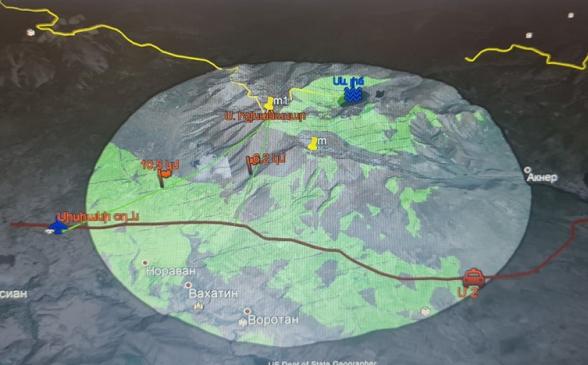 Նկարներում պատկերված է Իշխանասարի տարբեր կետերից անզեն աչքով 10 կմ շառավղով տեսանելիությունը